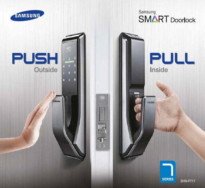 Sam Shsp717lmken Samsung Smart Doorlock Locks
