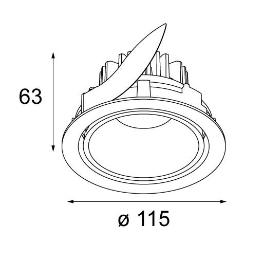 12781009 - modular lighting instruments - ceiling lamp - - products